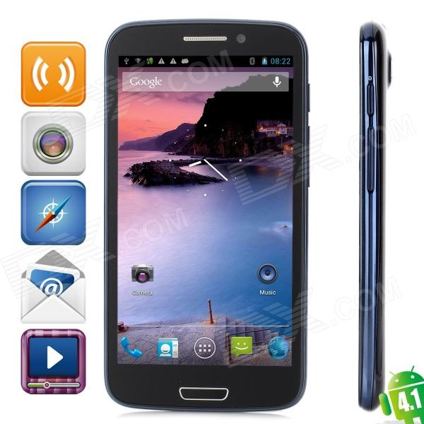 "CAESAR A9600 Quad-Core Android 4.1 WCDMA Bar Phone w/ 5.3"" Capacitive Screen, Wi-Fi and GPS - Black"