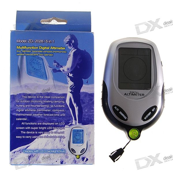 "2.3"" Blue Backlit LCD Portable Altimeter/Barometer/Compass /Thermometer/Weather Forecast"