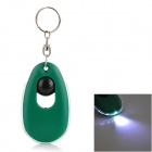 1-LED White Light LED Keychain - Green (3 x LR41)