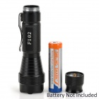 FANDYFIRE 500lm White Flashlight w/ CREE XM-L T6 - Black (1 x 18650)