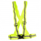Springy Reflective Safety Strap Vest w/ Buckle - Green + Gray