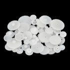 DIY Plastic Gear Wheel for Robot - White (58PCS)