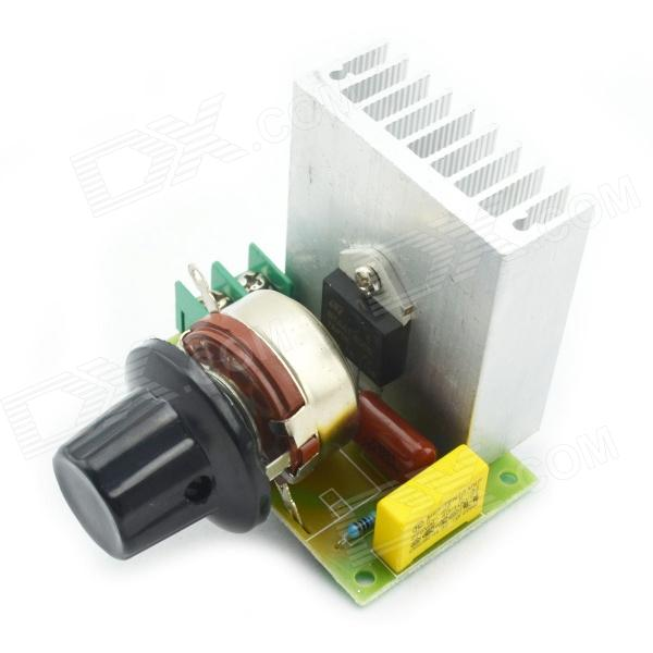 3800W SCR Electronic Voltage Regulator Dimmer Speed Control ThermostatDIY Parts &amp; Components<br>Model03160174Quantity1Form  ColorGreenMaterialGlassEnglish Manual / SpecYesPacking List1 x Voltage Regulator<br>