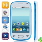"X5292 Android 4.1.1 GSM Bar Phone w/ 3.5"" Capacitive Screen, Dual-Band and Wi-Fi - White + Blue"