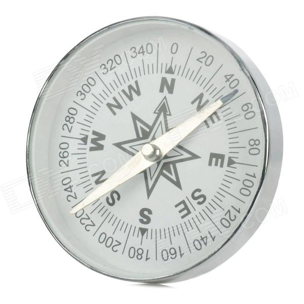 Portable Aluminum Compass - Silver + Black + White