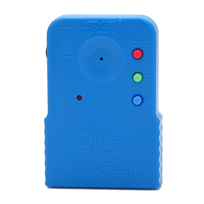 206a Handheld Telephone Voice Changer - Blue