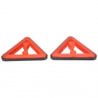 Triangle Car Vehicle Safety Warning Reflective Sticker - Red + Black + Silver (2 PCS)