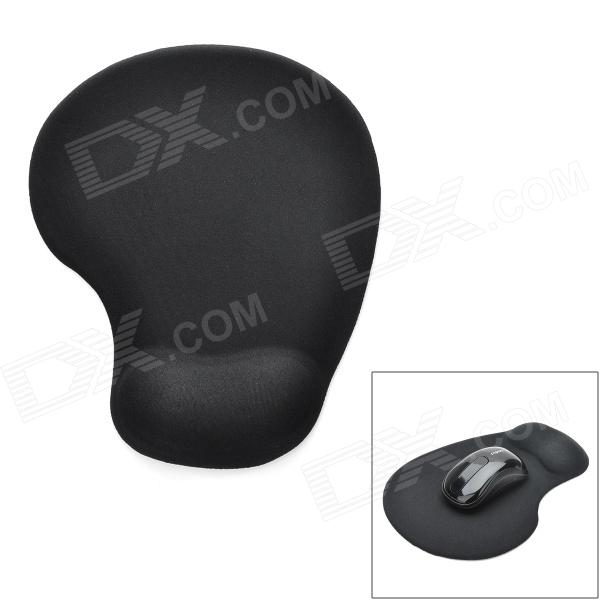 Buy Ergonomically Silicone Mouse Pad w/ Wrist Rest Support - Black with Litecoins with Free Shipping on Gipsybee.com