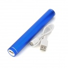 Cylindrical Style External Portable 6000mAh Power Bank for Iphone / Ipad / Samsung / HTC - Blue