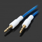 Translucent 3.5mm Audio Male to Male Connection Cable -Deep Blue(95cm)