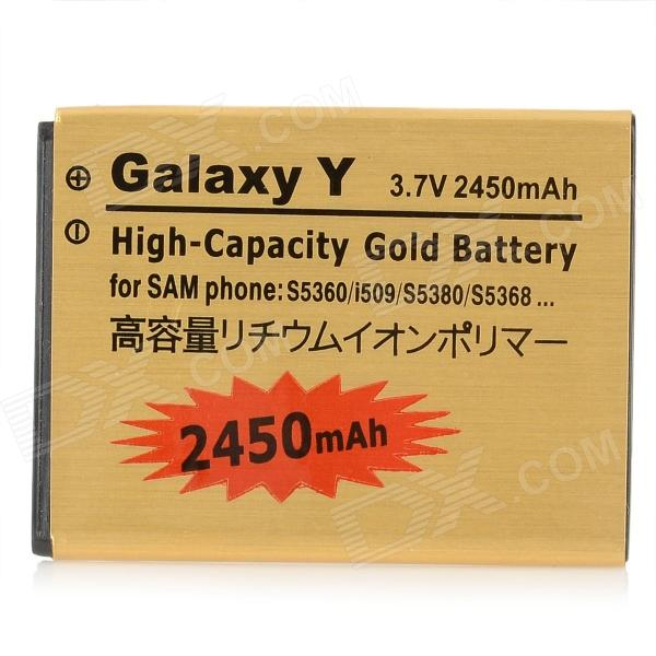 Replacement 3.7V 2450mAh Li-ion Battery for Samsung Wave Y S5380 / Galaxy Y S5360 / i509 - Golden