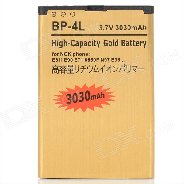 Buy BP-4L 3.7V 3030mAh Li-ion Battery for Nokia 2680 Slide + More - Golden with Bitcoin with Free Shipping on Gipsybee.com