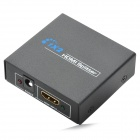 1080P 1-In 2-Out HDMI V1.4 Splitter w / UK Plug Laddnings Adapter - Svart