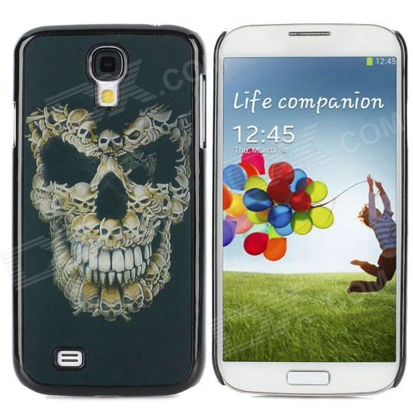 Varied Skull Pattern Protective Plastic Back Case for Samsung i9500 - Black