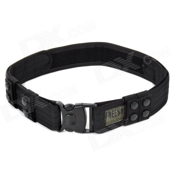 GRATIS SOLDIER Verstelbare Military Tactical Outdoor Camping Chinlon Belt - Black