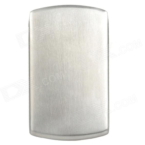 RS203 Thicken Stainless Steel Slide-Out Business Card Holder - Silver