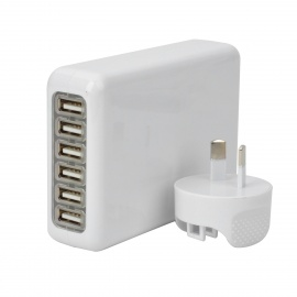 6-USB-Port-AC-Power-Charger-Adapter-w-AU-Plug-for-Iphone-Ipad-Ipod-Samsung-Tablet-PC-White