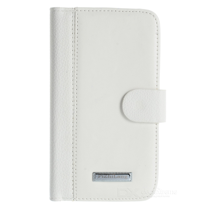 Protective PU Leather + Plastic Case for Samsung Galaxy Grand Duos i9082 - White