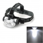 698 Outdoor Hiking 28lm 4-Mode 8 LED White Head Light - Silver (3*AAA)