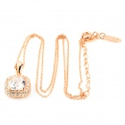 KCCHSTAR Fashion Crystal Rhinestone Necklace + Earrings + Ring Set - Golden