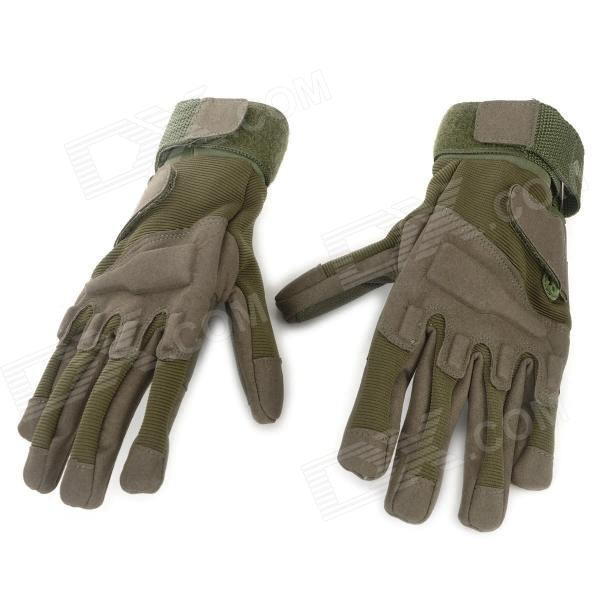 Buy SW3028 Outdoor Sports Full-Fingers Windproof  Mountaineering Gloves - Army Green (Size XL / Pair) with Litecoins with Free Shipping on Gipsybee.com