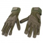 SW3028-Outdoor-Sports-Full-Fingers-Windproof-Mountaineering-Gloves-Army-Green-(Size-XL-Pair)