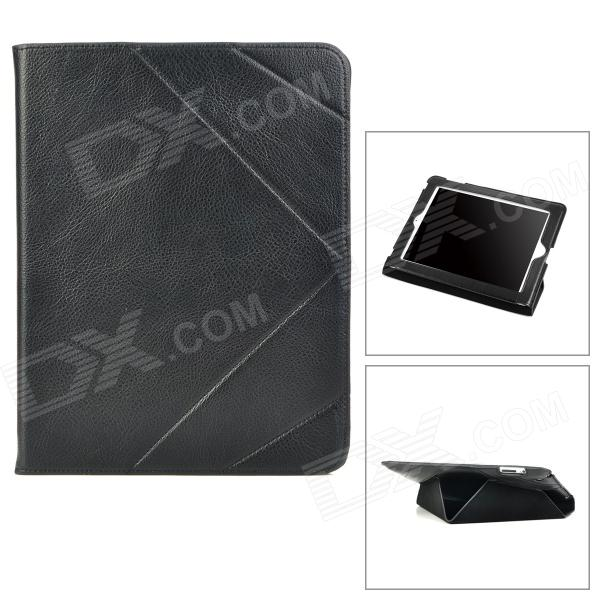 IP3-232 Protective Folding Genuine Leather Case for Ipad 2 / 3 / 4 - BlackIpad Cases<br>ModelIP3Quantity1MaterialGenuine LeatherForm  ColorBlackCompatible ModelsIPAD 4,OthersDesignOthersTypeLeather Cases,OthersAuto Wake-up / SleepYesOther FeaturesProtectsPacking List1 x Protective case<br>