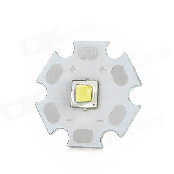 20mm 10W 980lm LED White Bulb Aluminum Board - Silver + White