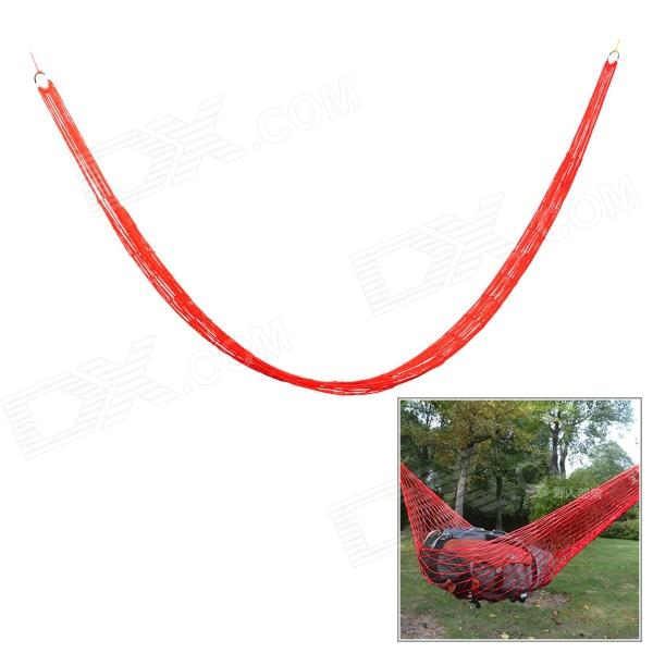Outdoor Camping Portable Single Person Nylon Mesh Swing Hammock - RedSleeping Bags<br>Quantity1MaterialNylonForm  ColorRedBest UseCampingKnife Blade TypeNoSizeSOther FeaturesHighPacking List1 x Hammock<br>
