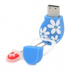 Slipper Shaped USB 2.0 Flash Drive - Blue + White (8GB)