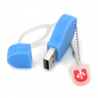 Slipper geformte USB 2.0 Flash Drive - Blau + Weiß (8 GB)