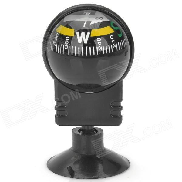 Mini Directional Traval Vehicle Bicycle Car Compass w/ Suction Cup - Black + Yellow + WhiteOther Interior<br>Quantity1MaterialEngineeringForm  ColorWhiteOther FeaturesSuctionPacking List1 x Compass<br>
