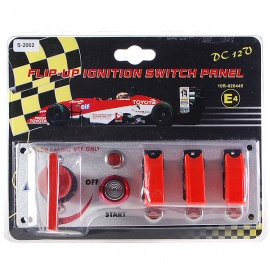 Flip-up-Start-Ignition-Switch-Panel-and-Accessories-for-Racing-Sport-(DC-12V)