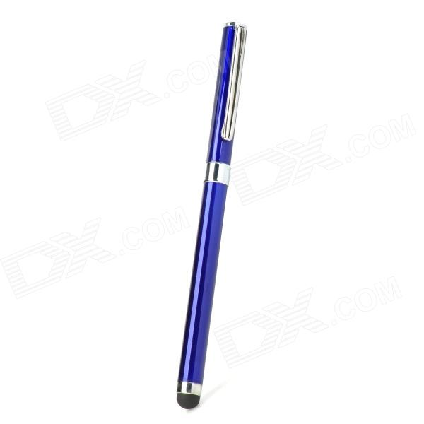 2-in-1 Ballpoint Pen + Capacitive Touch Screen Stylus Pen for Iphone / Ipad / Cell Phone - Blue