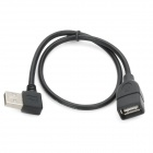 CY B-U2-002 90 Degree Left Angle USB Male to Female Connection Data Cable - Black (40 CM)