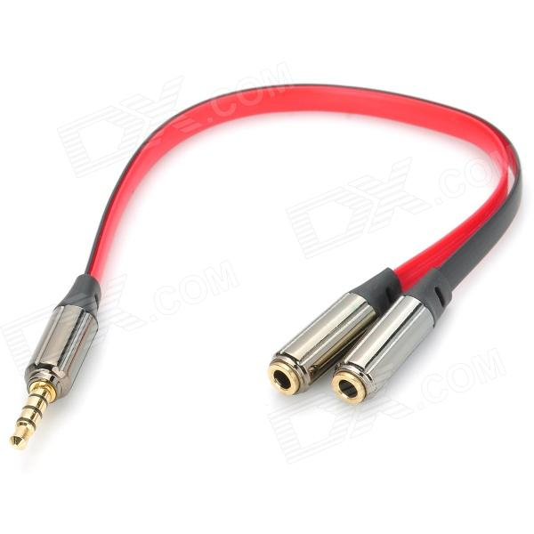 3.5mm Male to Dual Female Audio Split Y-Cable - Black + Red (22cm)Audio And Video Cables<br>ModelsLaptopMaterialABSForm  ColorBlackQuantity1Cable Length22Connector3.5mmPacking List1 x Audio cable<br>