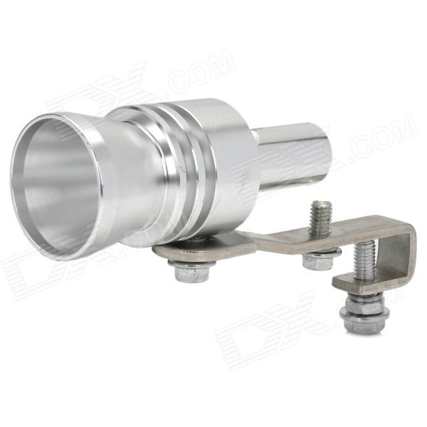 Turbo Sound Exhaust Muffler Pipe Whistle / Blow-off BOV Simulator Whistler  - Silver (Size-XL)