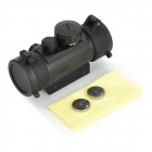 Aluminum Alloy 1X Magnification 5-Mode Red / Green Light Gun Scope Sight - Black
