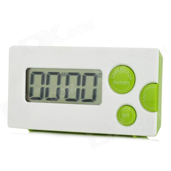 """HAPTIME YGH-116 1.85"""" LCD 4-Digital Kitchen Timer - White + Green"""