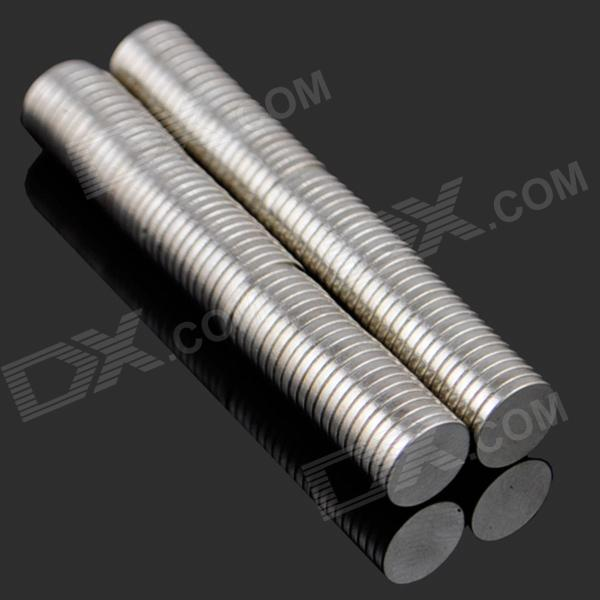 8*1mm NdFeB Neodymium Magnet Cylinder DIY Puzzle - Silver (100PCS)