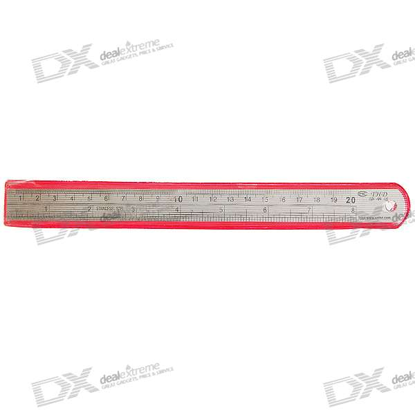 Mini 0.5mm Resolution Precision Stainless Steel Ruler (20.0cm/8-inch)