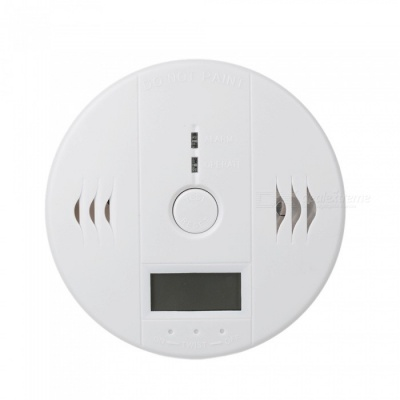 "1.25"" LCD Carbon Monoxide Detector Alarm w/ Blue Screen - White"
