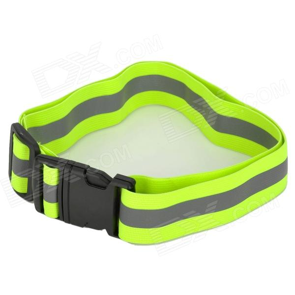 YFY-48 Reflective Safety Buckle Waist Belt Band - Green + Gray