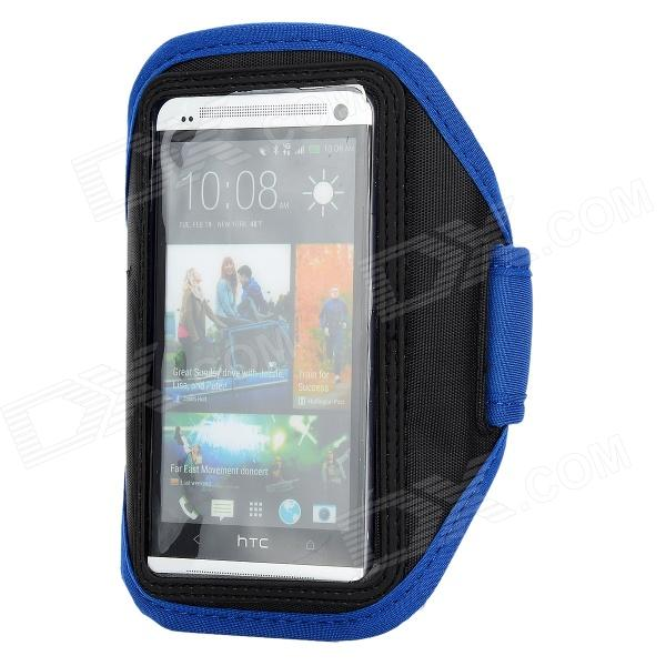 Buy Sports Gym Armband for HTC ONE M7 - Blue + Black with Litecoins with Free Shipping on Gipsybee.com