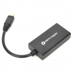 Micro USB MHL Male to HDMI Female TV Video Cable Adapter for Samsung i9500 - Black (17cm)