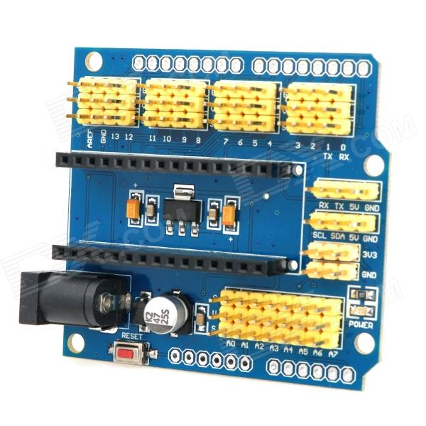 Multifunctional Nano UNO Expansion Board for Arduino Duemilanove 2009 / UNO R1 - Yellow + Blue