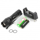 Assassin R5-T6 500lm 5-Mode White Zooming Flashlight w/ Cree XM-L T6 - Black (1 x 18650 / 3 x AAA)