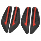 XDL-A001 Stylish DIY PVC Door Stickers for Car - Black + Red (4 PCS)