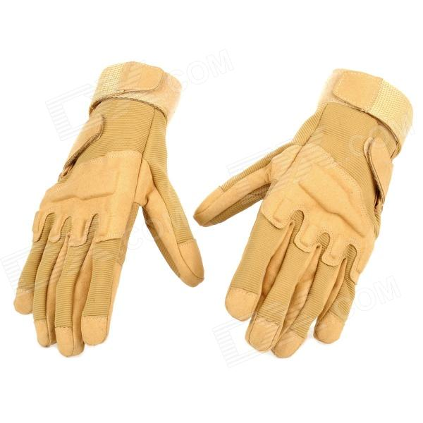 SW3038 Outdoor Windproof Cycling Super Fiber + Nylon Gloves - Sand Color (Pair / Size XL)Gloves<br>ModelSW3038Quantity2Form  ColorEarthyMaterialSuperSizeSOther FeaturesPalmPacking List1 x Pair of gloves<br>