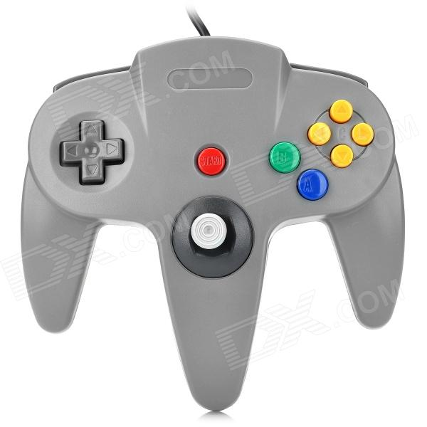 Video Game Wired Controller Joypad Joystick for Nintendo N64 - Grey (200cm-Cable) for sale in Bitcoin, Litecoin, Ethereum, Bitcoin Cash with the best price and Free Shipping on Gipsybee.com